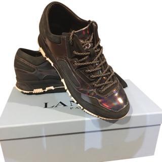 Lanvin men's black trainers