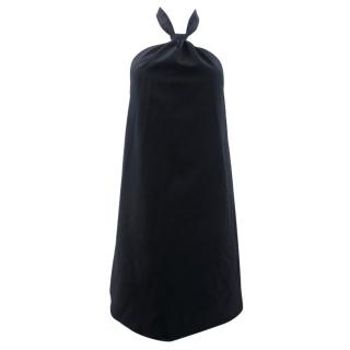 Maison Martin Margiela Black Wool Backless Halter Neck Top