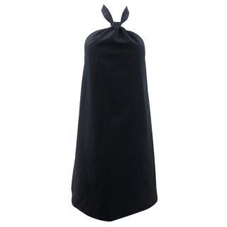 Maison Martin Margiela Black Wool Backless Halter Neck Top