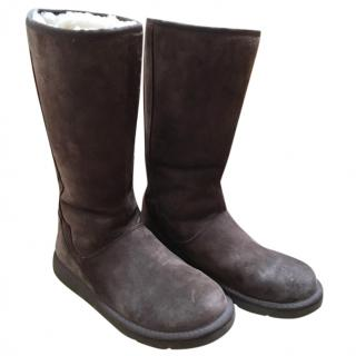 Ugg tall boots with zip