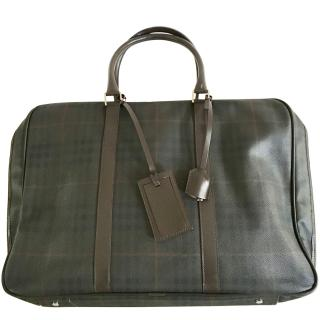 Burberry large brown london checked weekend bag