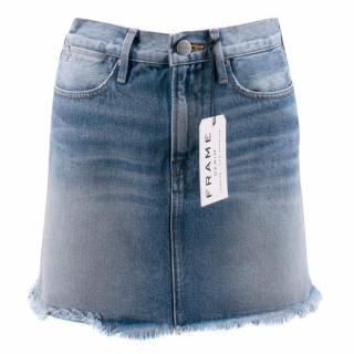 Frame Le High Mini Denim Skirt