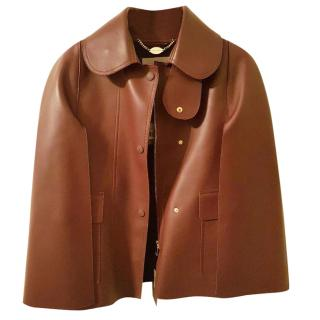 Mulberry Nappa leather cape