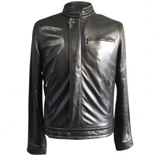 Yves Saint Laurent Rive Gauche Black Leather Biker Jacket