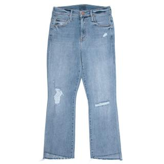 Mother The Insider Chatterbox Crop Step Fray Jeans
