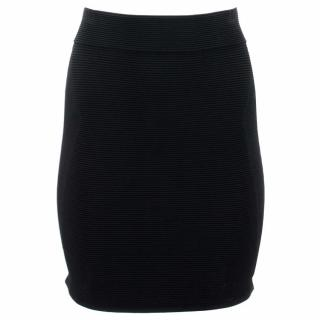 Parker Black Ribbed Skirt