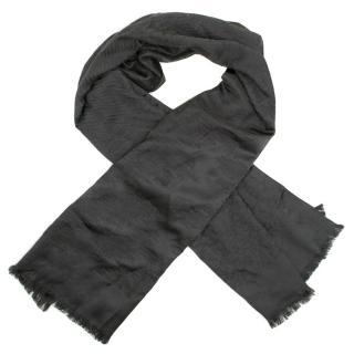 Emporio Armani Grey Silk Scarf