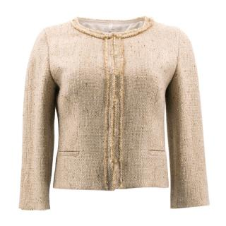 Prada Gold Tweed Jacket