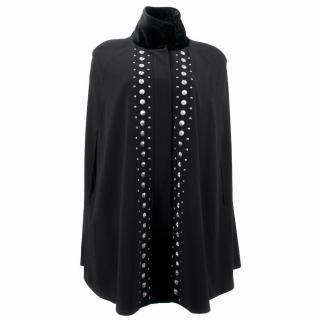 Alice by Temperley Black Cape With Studs