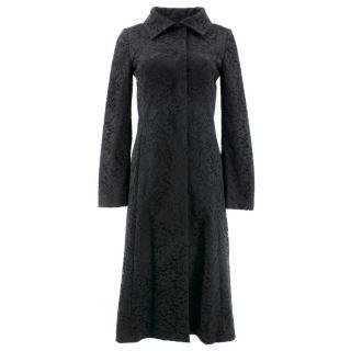 Dolce & Gabbana Black Floral Lace Coat