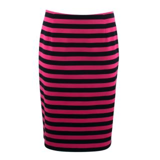 Prada Pink and Black Fitted Skirt