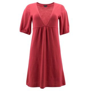 Theory Red Wool Dress