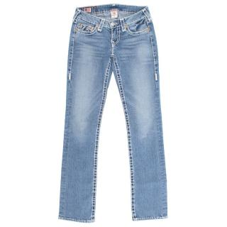 True Religion Light Wash Straight Leg Jeans