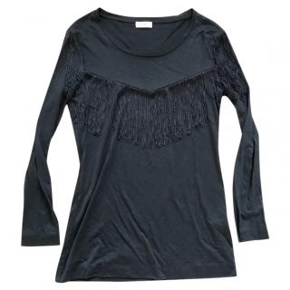 Claudie Pierlot Black Fringe Top