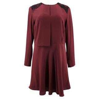 Karl Lagerfeld Hannah Silk Fluid Dress