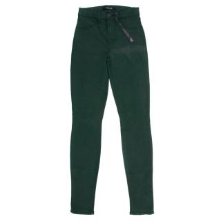 J Brand Maria Forrest Green Skinny Jeans