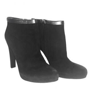 Fendi High Heel Suede Boots