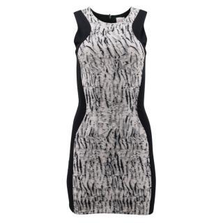 Parker Black Pattern Bodycon Dress