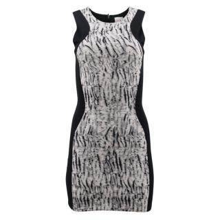 Parker Black Pattern Bodycon Dress