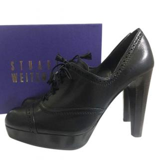Stuart Weitzman For Russell & Bromley Lace Up Plarform Shoes