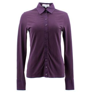 Anne Fontaine Purple Shirt