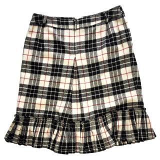 Max Mara Weekend Plaid Wool Skirt