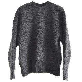MM6 Maison Margiela charcoal wool-boucle jumper