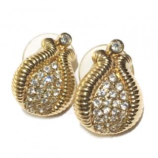 Christian Dior Crystal Couture Earrings
