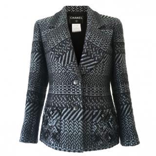 Chanel Tweed Grey/Black Sequin detail Jacket