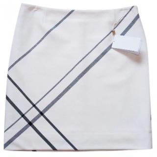 Hugo Boss White with Black Stripes skirt
