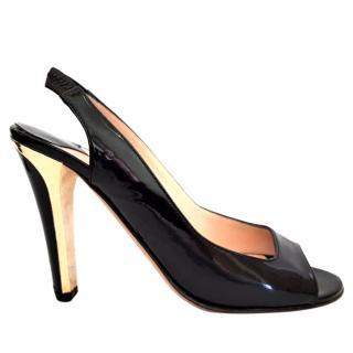 Jimmy Choo Patent Gold Heels