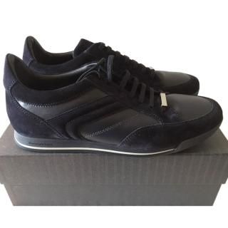 Zegna Mens Navy Trainers