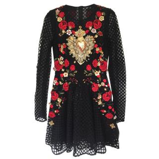 Dolce and Gabbana embellished Tulle Mini Dress