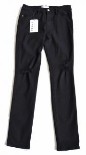 Frame Le High Film Noir black stretch skinny jeans