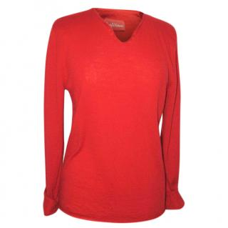 ZADIG & VOLTAIRE 'ARTY' red jumper