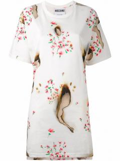 Moschino Couture burn floral print dress