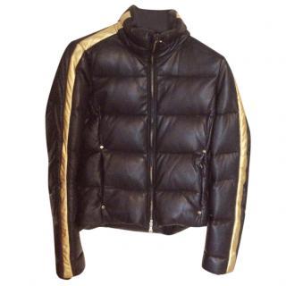 Ralph Lauren RLX Black Leather Puffa Jacket