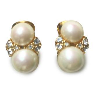 Christian Dior Pearl & Crystal Earrings