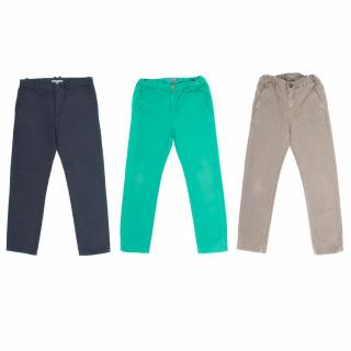 Bonpoint Green, Navy and Brown Trousers Set