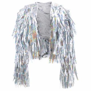 Bottle Blonde Disco Dreams Silver Tassel Jacket