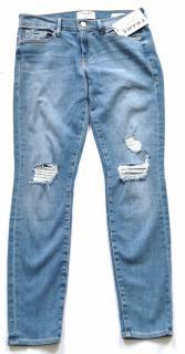 Frame Denim Le Skinny de Jeanne blue distressed jeans