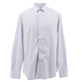Lanvin Blue Pin Striped Shirt