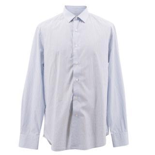 Lanvin Blue Pin Striped Shirt