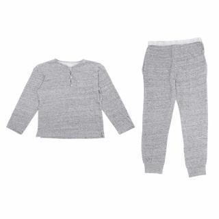Bonpoint Grey Top and Trousers Pyjama Set
