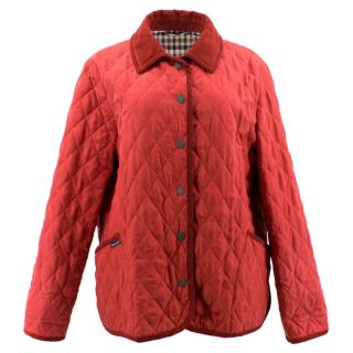Aquascutum Red Silk Quilted Jacket