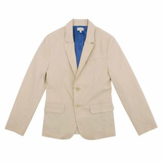 Paul Smith Junior Beige Cotton Blazer