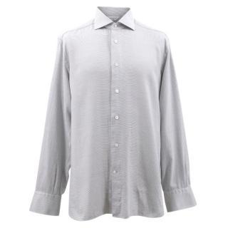 Ermenegildo Zegna Couture Black and White Pattern Shirt