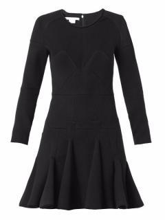 ANTONIO BERARDI scuba-jersey dress with pleated skirt