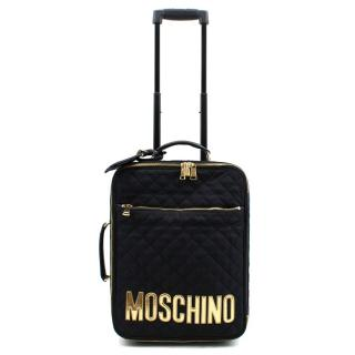Moschino Black Quilted Trolley