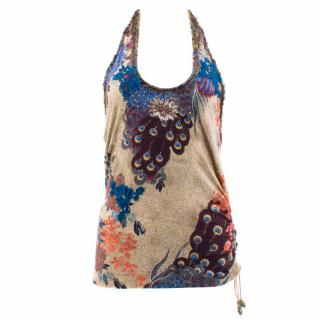 Tarun Tahiliani Halter Neck Patterned Top
